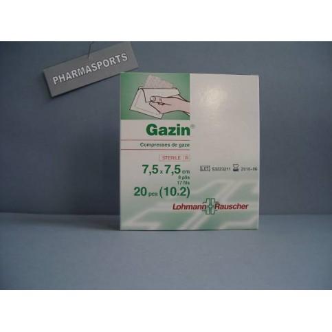 COMPRESSE DE GAZE STERILE 7.5x7.5 BTE DE 10