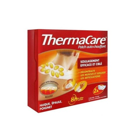 LOT DE 2 THERMACARE NUQUE PATCHS CHAUFFANTS